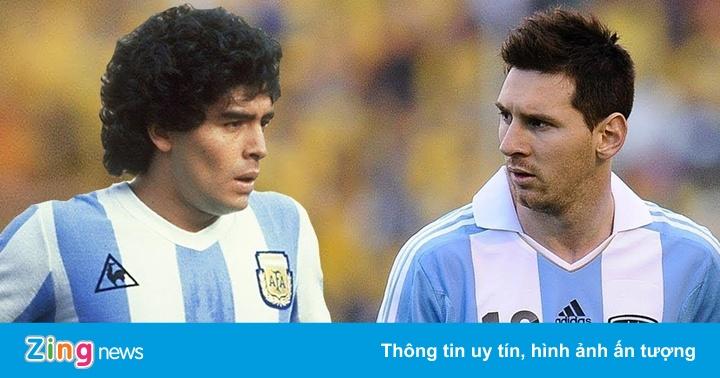 'Messi ở đội tuyển không có đồng đội tốt như Maradona'