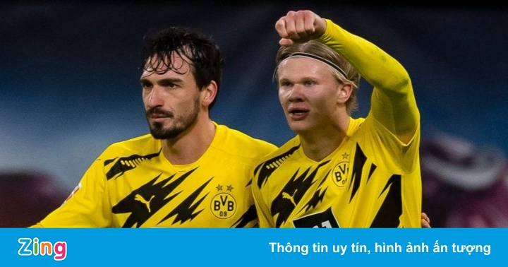 Haaland ghi 12 bàn sau 10 trận tại Bundesliga