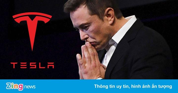 Giá trị Tesla bốc hơi 277 tỷ USD trong một tháng