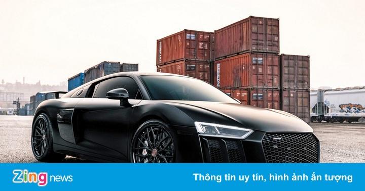 Audi R8 V10 Plus độ chiến đấu cơ tàng hình