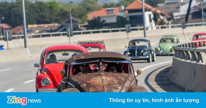 Đã mắt với ngày hội Volkswagen Beetle quy tụ hơn 400 xe 'con bọ'