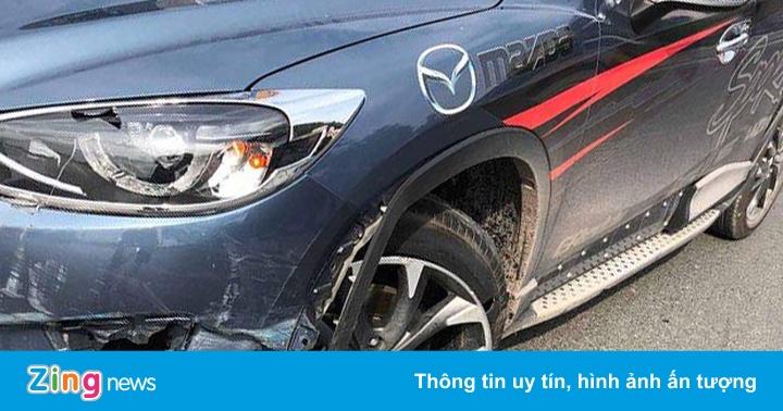 """Nhiều ôtô gặp nạn vì bẫy chông """"khủng"""" trên quốc lộ 18"""