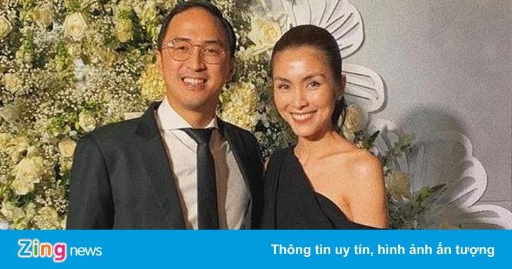 Tăng Thanh Hà và chồng sánh đôi dự sự kiện