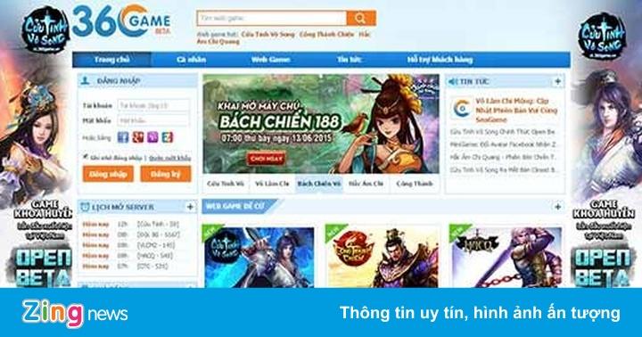 Cổng 360Game thỏa mãn người dùng từ truyện, phim đến game - Thông tin doanh  nghiệp - ZING.VN