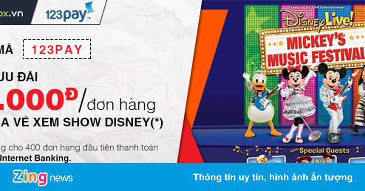 Ưu đãi hấp dẫn khi thanh toán vé show Disney qua 123Pay - Thông tin doanh  nghiệp - ZING.VN