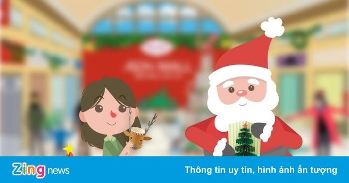 Ông già Noel tặng quà tại AEON Mall Bình Tân