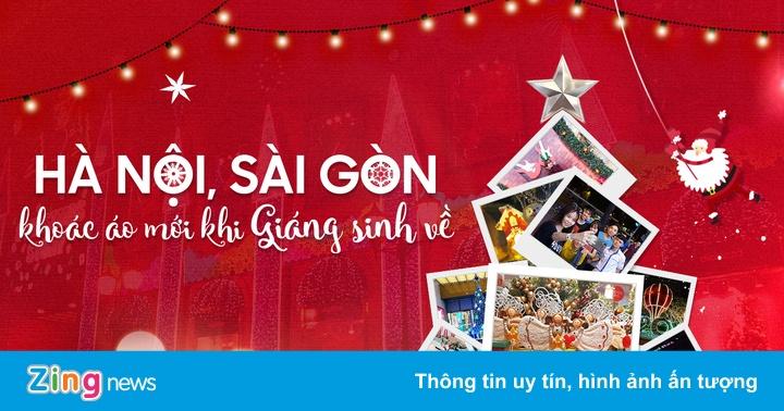 Hà Nội, Sài Gòn khoác áo mới khi Giáng sinh về