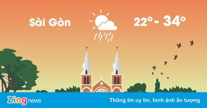 Thời tiết ngày 21/5: Sài Gòn có mưa dông kèm gió mạnh, sấm sét