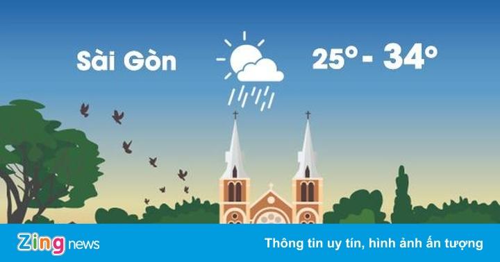 Thời tiết ngày 29/8: Hà Nội mưa lớn, Sài Gòn nóng 34 độ C