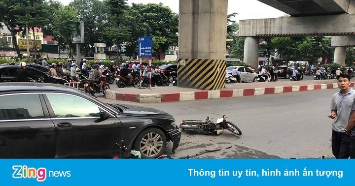 Nữ tài xế BMW 745 Li gây tai nạn liên hoàn vào giờ tan tầm