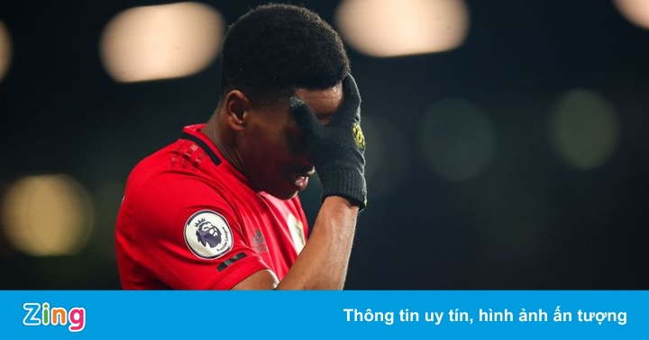 Martial quá lười di chuyển, là nỗi lo trên hàng công Man United