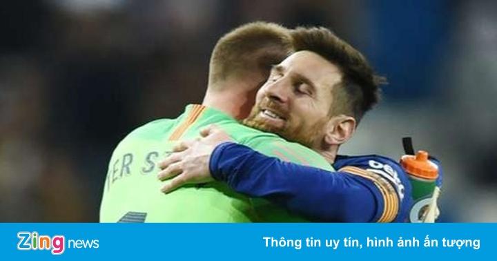 Ter Stegen mong Messi hạnh phúc ở Barca